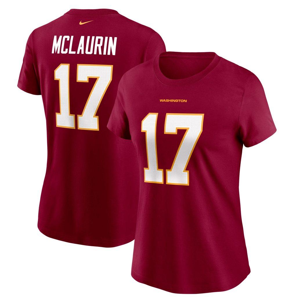 Women's Nike Terry McLaurin Burgundy Washington  super bowl jersey symbols of strength
