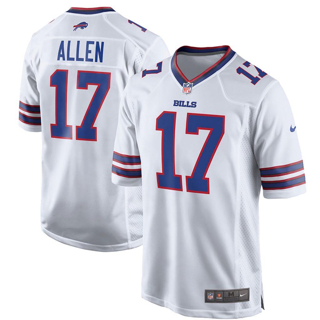 Buffalo Bills Road Game Jersey - Josh Allen nike usa soccer jersey size chart