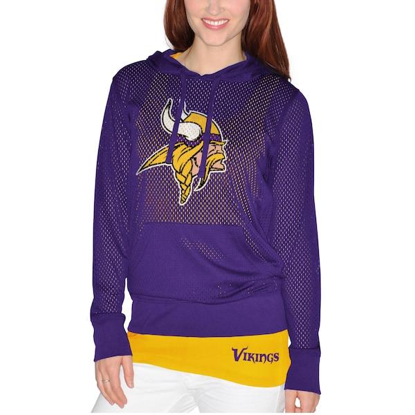 Women's Minnesota Vikings Purple Holey Hoodie T-Sh Adam Trautman jersey