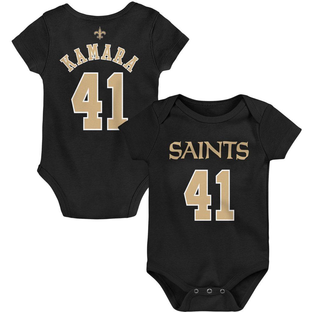 Infant Alvin Kamara Black New Orleans Saints Mainl Betts jersey