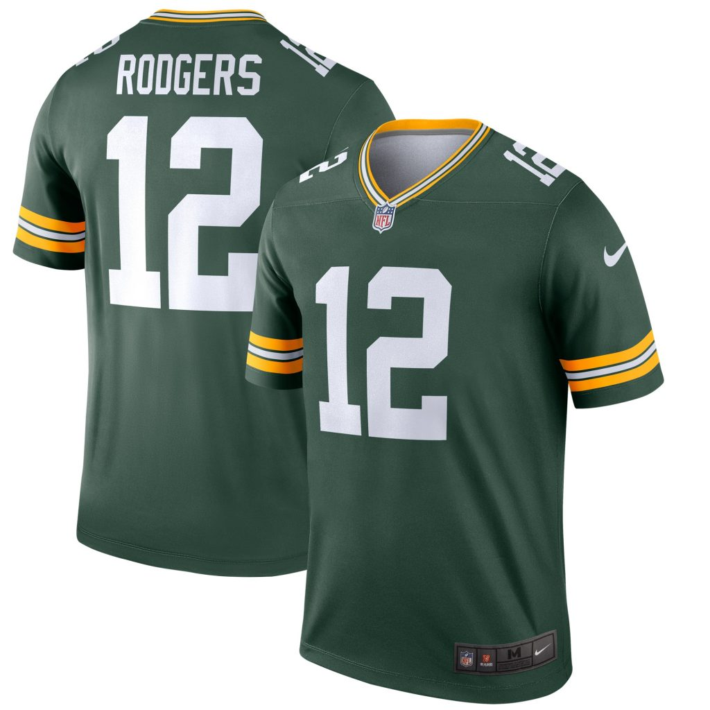 Men's Nike Aaron Rodgers Green Green Bay Packers L Limit Marcus Mariota jersey