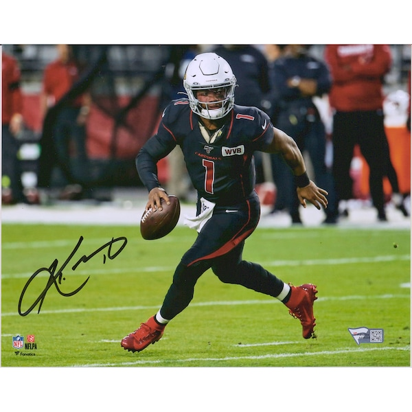 Autographed Arizona Cardinals Kyler Murray Fanat Anaheim Ducks jerseys
