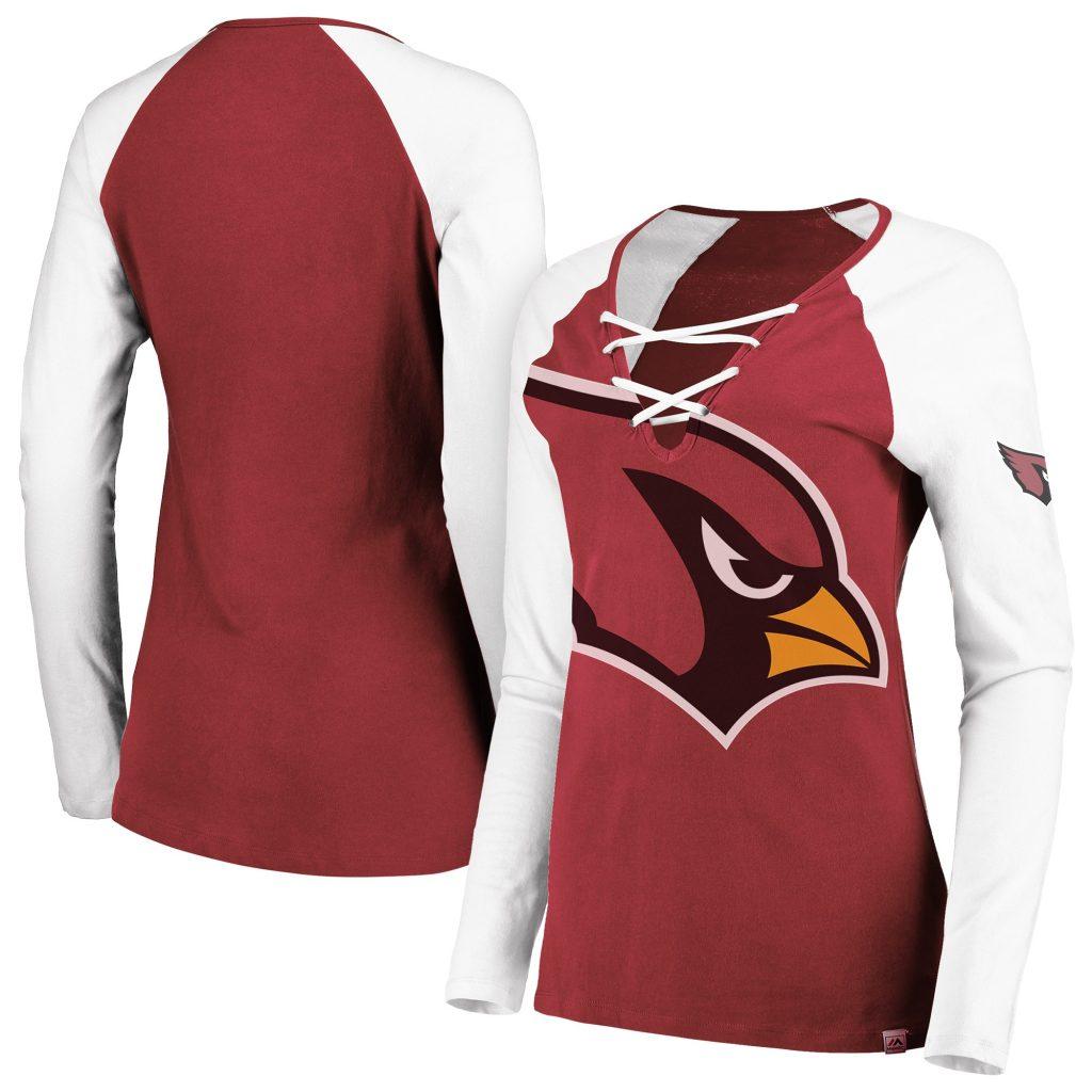 Women's Majestic Cardinal/White Arizona Cardinals  Laurent Duvernay-Tardif jersey