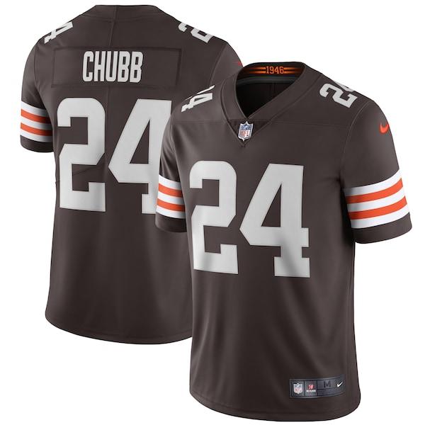 Men's Cleveland Browns Nick Chubb Nike Brown Vap Sutter home jersey