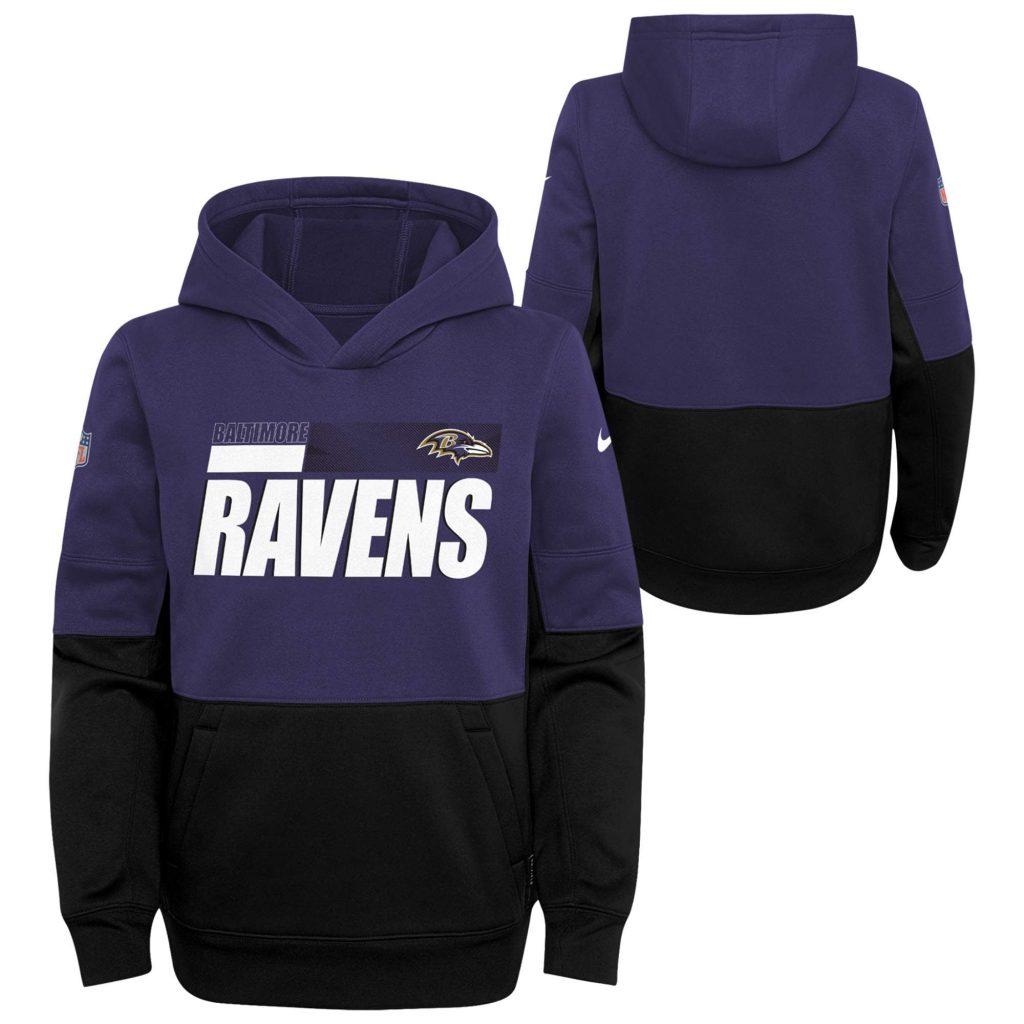 Baltimore Ravens Nike Side Line Therma Hoodie - Yo wholesale college jerseys china