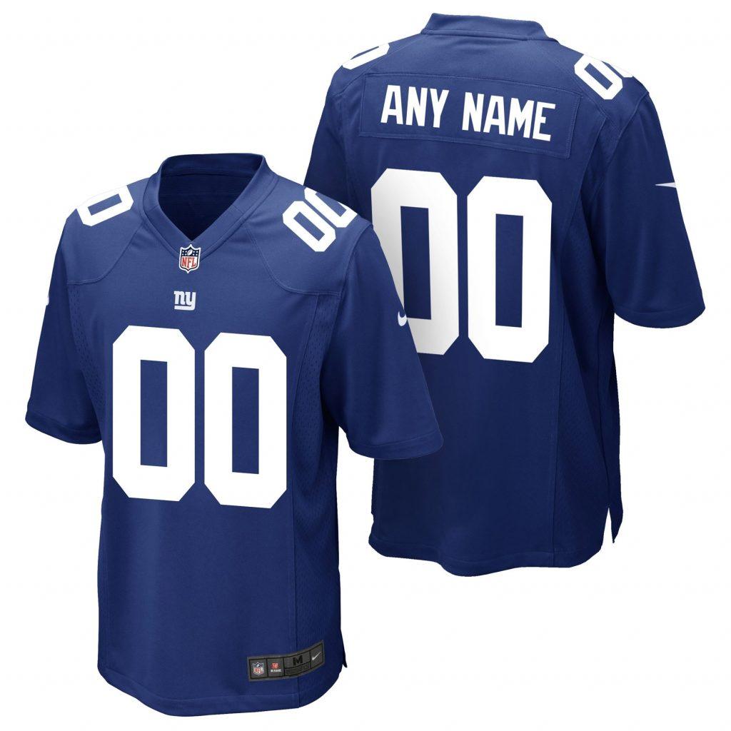 New York Giants Nike Game Jersey - Rush Blue - Cus Mets jerseys