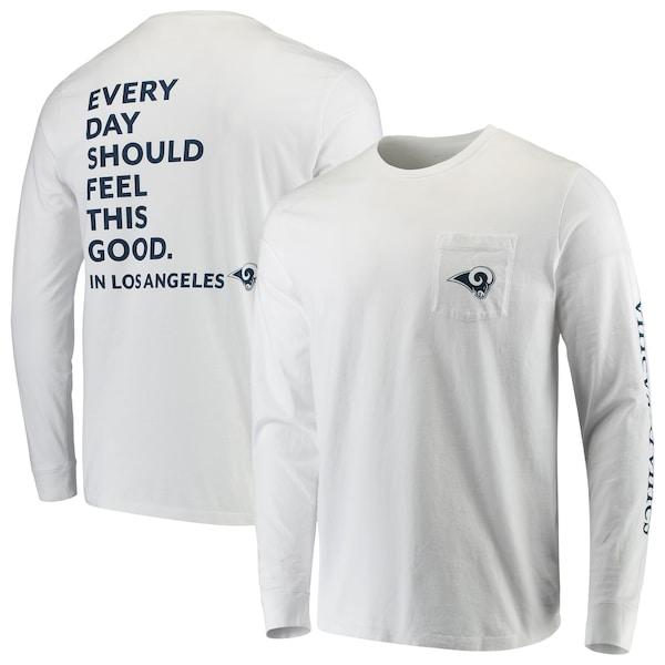 Men's Los Angeles Rams Vineyard Vines White Every  Matthew Stafford jersey