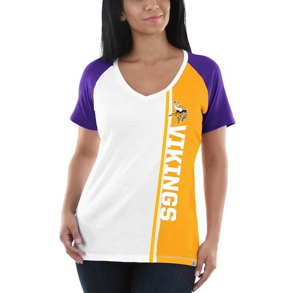 Women's Minnesota Vikings Majestic White/Purple Th badger digital camo jerseys baseball