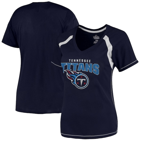 Women's Tennessee Titans Majestic Navy Plus Size G nhl team jersey dresses