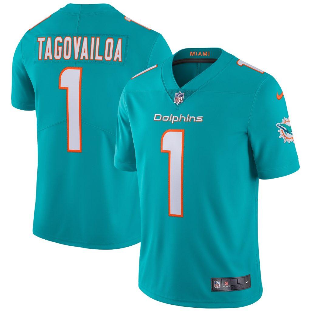 Men's Nike Tua Tagovailoa Aqua Miami Dolphins Vapo adidas nhl jersey authentic