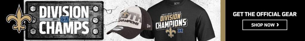 New Orleans Saints 2017 NFC South Division Champs  black brian dawkins jersey