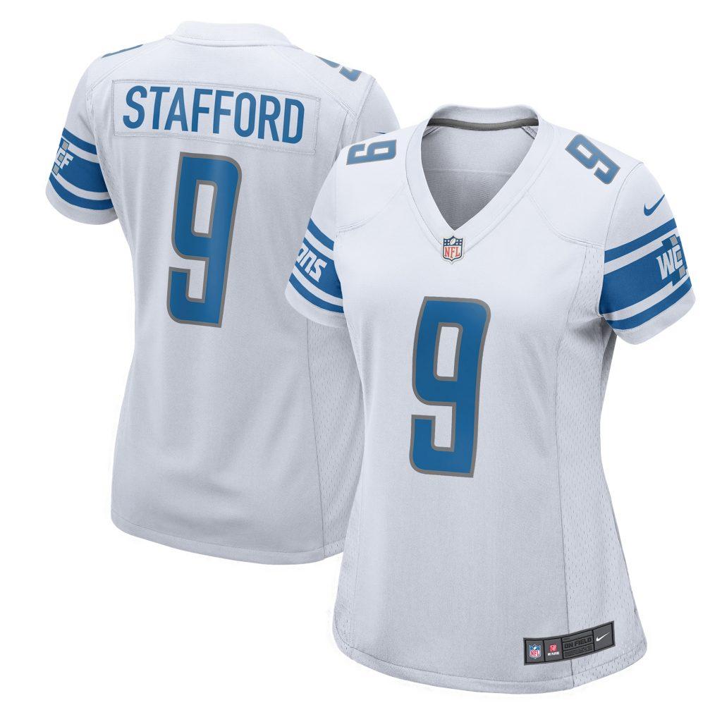 Women's Nike Matthew Stafford White Detroit Lion Andrew Whitworth jersey