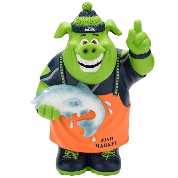 Seattle Seahawks Caricature Piggy Bank Chase Claypool jersey