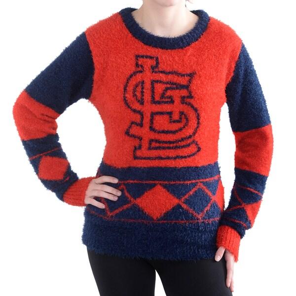 Women's St. Louis Cardinals Klew Red Inline Eyelas Hicks jersey