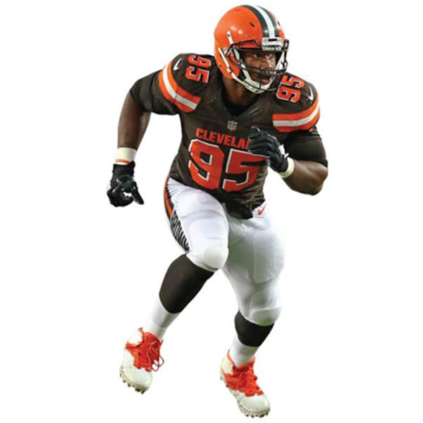 Cleveland Browns Myles Garrett Fathead Life Size Browns jerseys