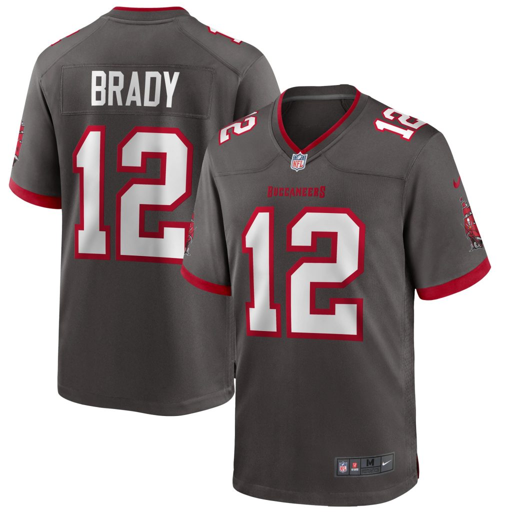 Men's Nike Tom Brady Pewter Tampa Bay Buccaneers A youth germany soccer jersey