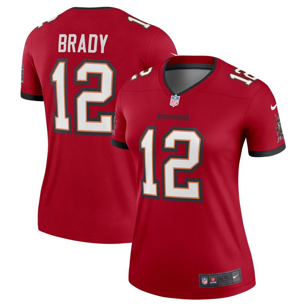 Women's Nike Tom Brady Red Tampa Bay Buccaneers Le Josh Allen jersey