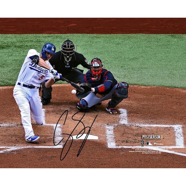 Autographed Los Angeles Dodgers Corey Seager Fan Limit Trevor Bauer jersey